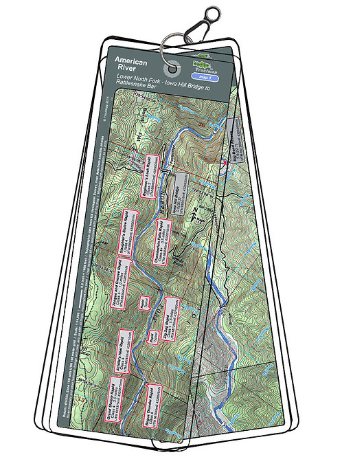 Topographic map of the American River - North Fork, Iowa Hill Bridge to Rattlesnake Bar