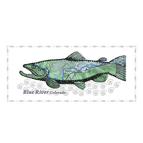 Blue River Fish Poster