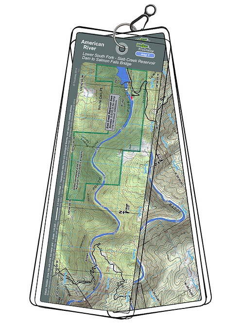 Topographic map of the American River - South Fork, Slab Creek Reservoir Dam to Salmon Falls Bridge by Troutmap