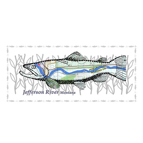 Jefferson River Fish Poster