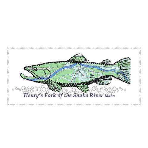 Henry's Fork Fish Poster