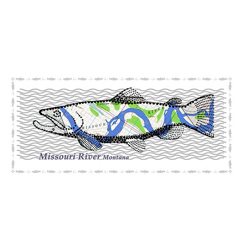 Missouri River Fish Poster