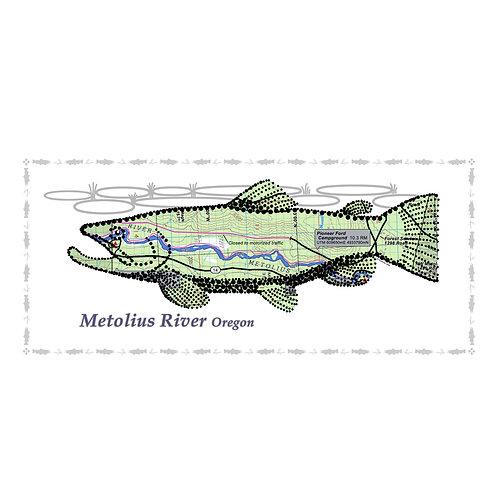 Metolius River Fish Poster