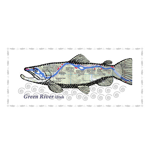 Green River Fish Poster