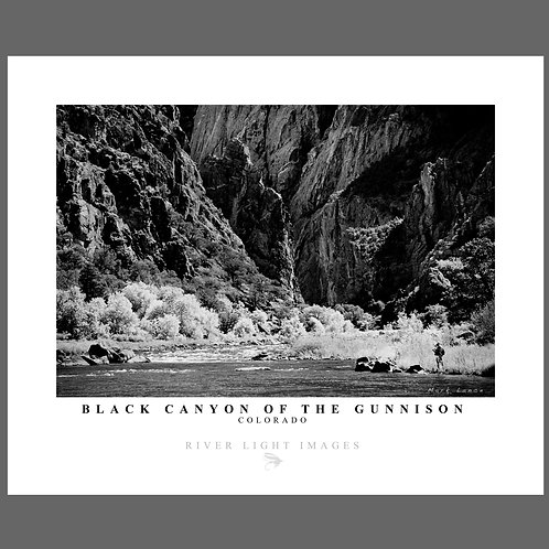 A poster of the Gunnison River in Colorado by Mark Lance of River Light Images