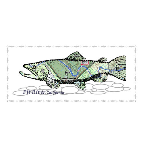 Pit River Fish Poster