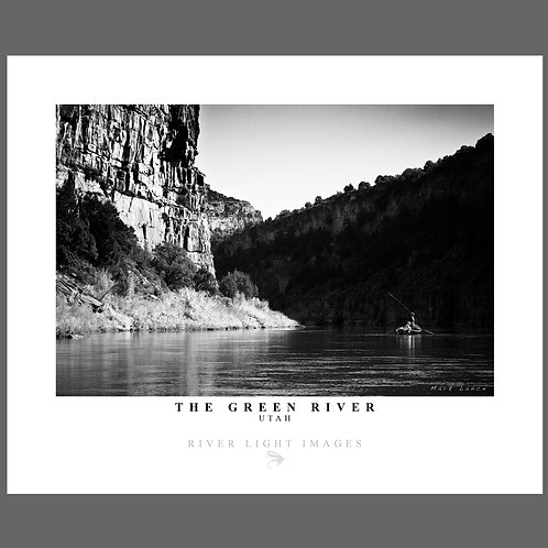 A black and white poster of Utah's Green River
