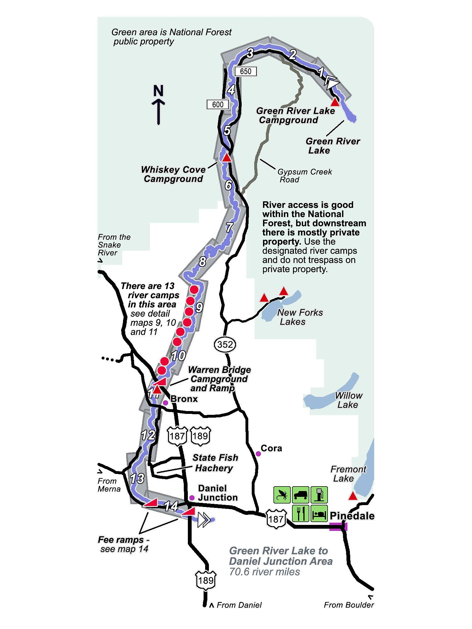 River Maps Troutmap Upper Green River Bundle