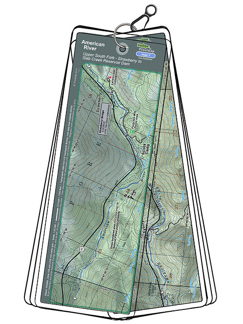 Topographic map of the American River - South Fork, Strawberry to Slab Creek Reservoir Dam by Troutmap