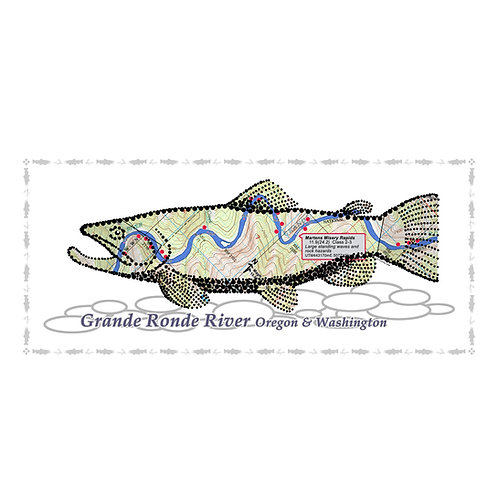 Grande Ronde River Fish Poster