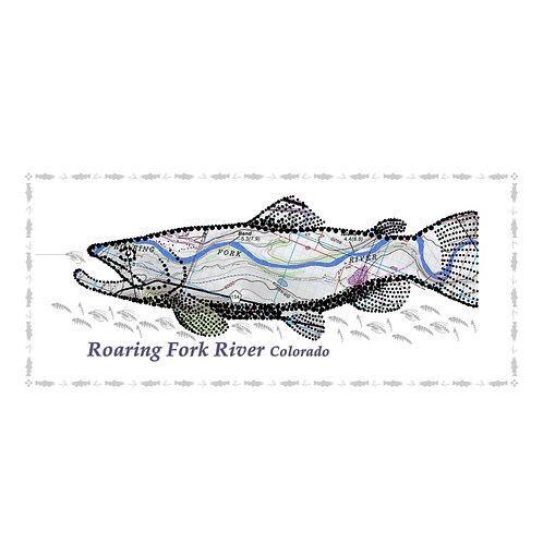 Roaring Fork River Fish Poster