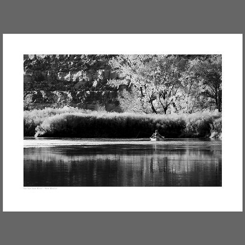 A fine art print of the San Juan River in New Mexico