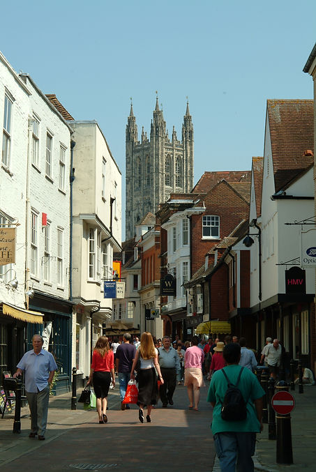Cantebury Cathedral and Canterbury Shopping