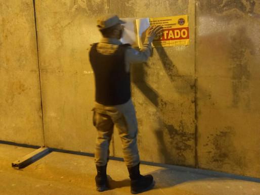 IPUBI: Corpo de Bombeiros e PM interditam evento irregular.