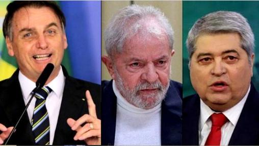 POLÍTICA: levantamento nacional confirma liderança de Bolsonaro, Lula em 2º e Datena em 3º lugar