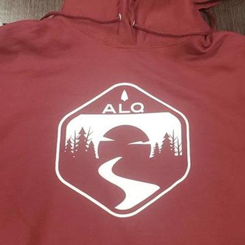 ALQ Logo Battle Red Hoodie