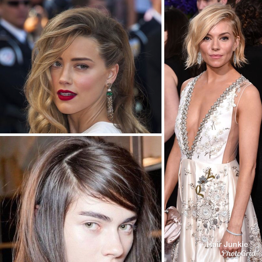 deep side part hair images