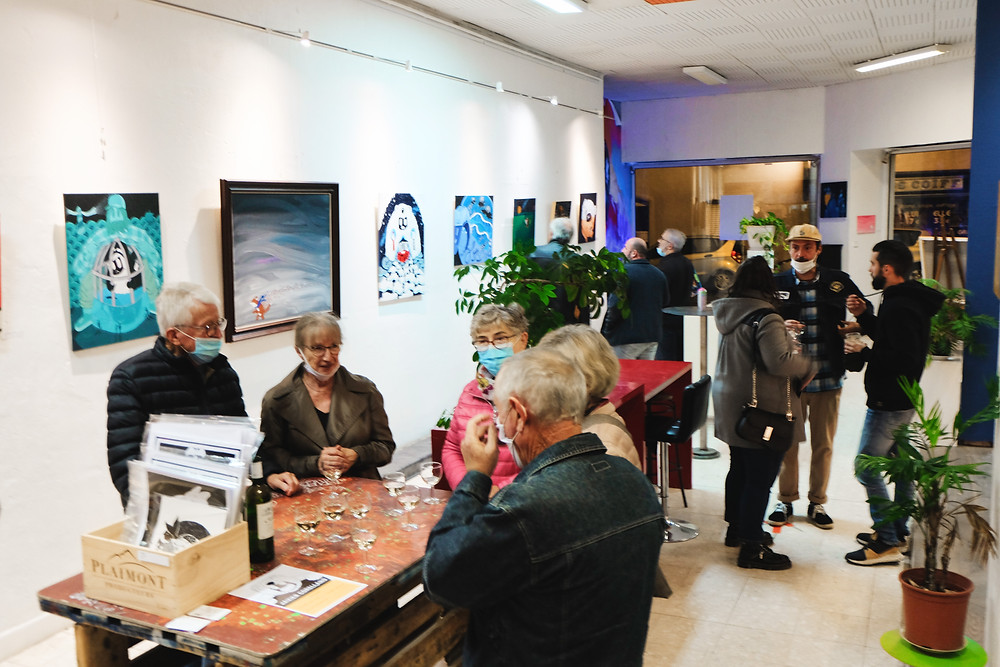my first conemporary art exhibition in France
