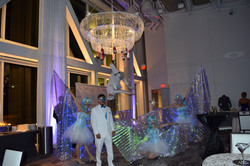 Champagne Chandeliers - Aerial Barte