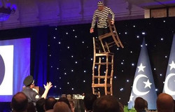 Chairs Stacking Act Cirque