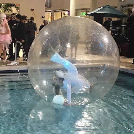 Bubble  contortion entertainment