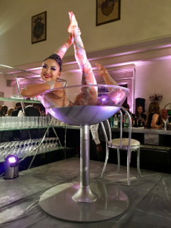 Giant Martini Glass Performer