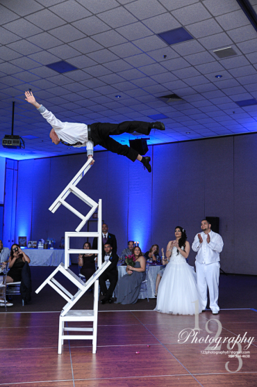Vitaliy Vinnikov Chair Stacking wedding show