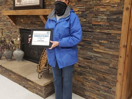 November Volunteer of the Month - Paula Keehr