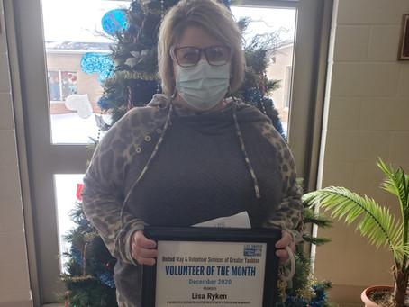 December 2020 Volunteer of the Month - Lisa Ryken
