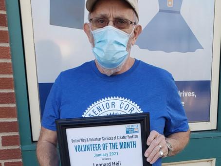 January 2021 Volunteer of the Month - Leonard Hejl