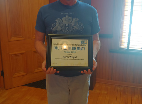 August Volunteer of the Month - Norm Wright