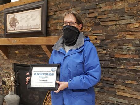 November 2020 Volunteer of the Month - Paula Keehr