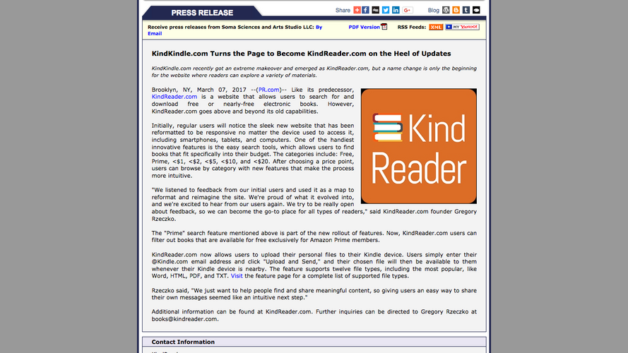 KindKindle Turns the Page to Become KindReader