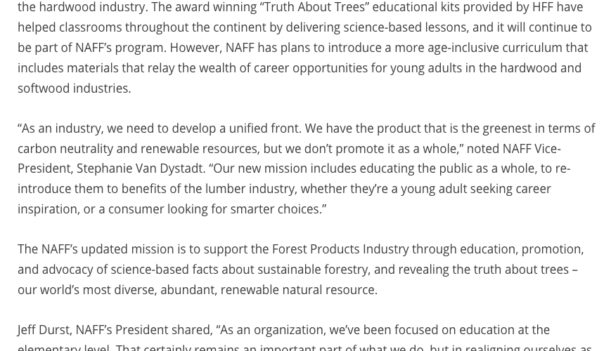 Introducing the North American Forest Foundation