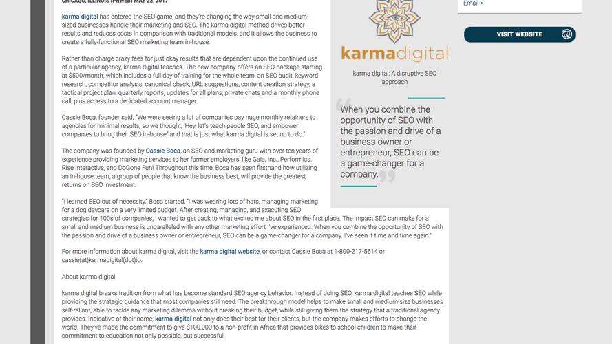 karma digital Introduces a New Kind of SEO Marketing Service