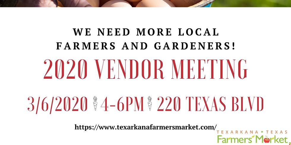 2020 Vendor Meeting