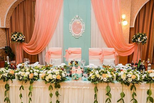 Оформление «Мятной свадьбы»