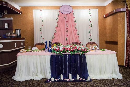 Оформление «Розовая свадьба»