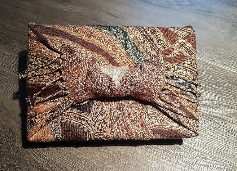 Bojagi Wrap - Bronze Tapestry