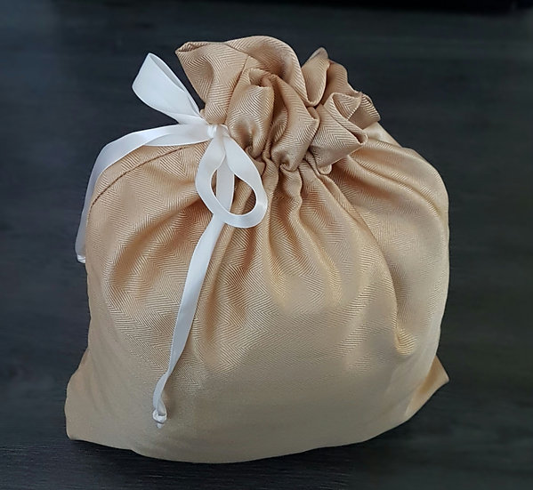 Fabric Gift Bags - Gold