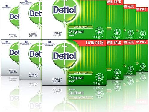 Dettol Anti-Bacterial Original Soap 2 x 100 g - Pack of 6 (Total 12 Bars)