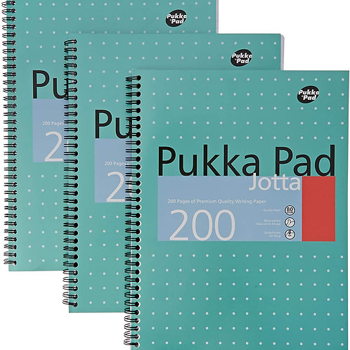 Pukka Pads A4 Metallic Jotta Wirebound Notebook (Pack of 3), White