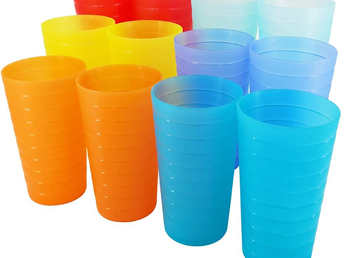 Drinking cups set of 12 - 22-ounce Plastic Unbreakable