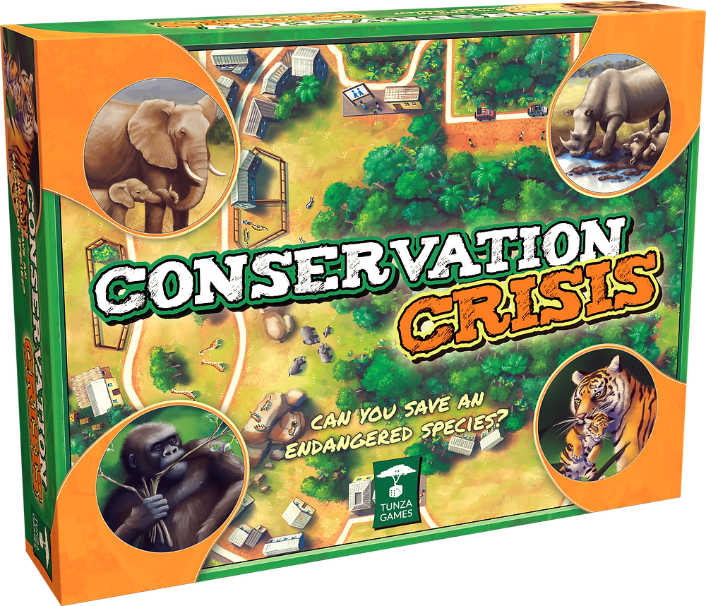 Conservation Crisis Wildlife-Themed Educational Family Board Game for Ages 7+ Box