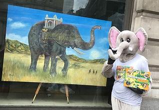 Tunza the Elephant with Elephant Painting.jpg