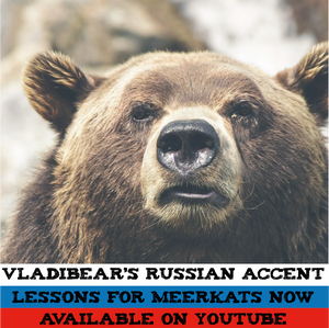 Advert for Russian Lessons with a Grizzly Bear