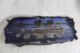 Acanthus Blue Black Wavy Dish, 2020