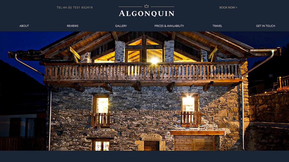 CHALET ALGONQUIN WEBSITE
