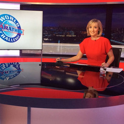 Louisa in the BBC London News studio_edi