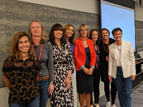 With panel guests at Amazon's women_ eve